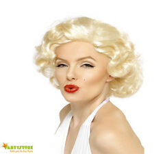 PARRUCCA  MARILYN MONROE BOMBSHELL WIG ANNI 50 60 TRAVESTIMENTO CARNEVALE ADULTI