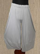 myo- Lagenlook Many Stitched 3 D jersey-Pants Light Grey 46,48, 50,52, 54
