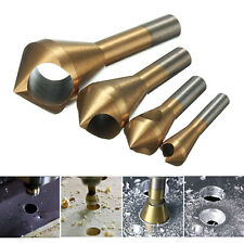* UK SELLER 4Pc 1//4 Hex HSS Shank Countersink Wood Drill Bit Set 6 8 10 12