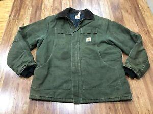 MENS XL- Vtg Carhartt Duck Arctic Quilted Lined Rancher Coat Jacket