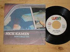 """NICK KAMEN - DON'T HOLD OUT / MISS YOU - 45 GIRI 7"""" ITALY"""