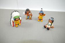 Schleich 4 Various Yakari Rubber Figures 1984 (K44)
