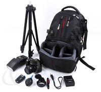 Camera Backpack Rucksack Bag Case Shockproof DSLR RainCover For Canon Nikon Sony