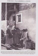STAMPA 1926 CAMPITELLO VAL DI FASSA SPACCALEGNA TRENTINO COMARI FOT K.DIENSTBACH