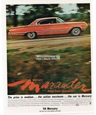 1964 MERCURY Marauder Park Lane Red 4-door HT Pike's Peak Champion Vtg Print Ad