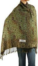 "Falari Women's Woven Reversible Paisley Pashmina Shawl Wrap Scarf 80"" x 27"""