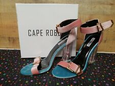New Cape Robbin June 2 Black Satin Diamond Strappy Cage Heels Shoes 5.5-8 USA