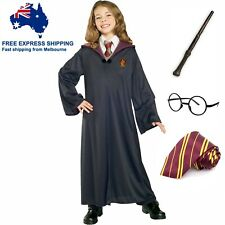 Harry Potter Costume Girl Boy Book Week Kids Children Robe Glasses Tie Wand