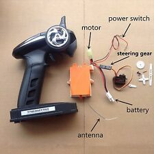 2.4G Transmitter & Receiver Brushed Speed Controller + Steering RC Boat #1741