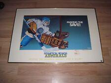 1993 Hampton Roads Admirals Mark Carey Signed Hockey Goalie Poster Print/Norfolk