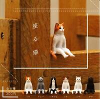 Kitan Club sit cat Gashapon 6 set mini figure capsule toys