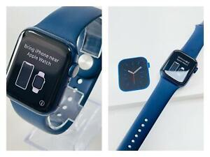 Apple Watch Series 6 44mm Blue Aluminium Case with Rubber Deep Navy Sport Band
