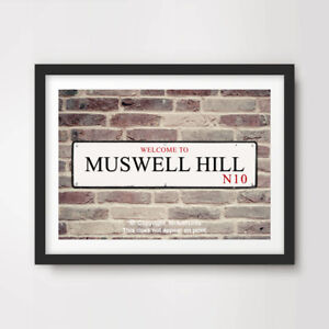 MUSWELL HILL N10 London Postcode Area ART PRINT Poster A4 A3 A2 Borough Sign