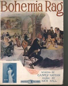 Bohemia Rag 1912 Large Format Sheet Music (Not Joseph Lamb)