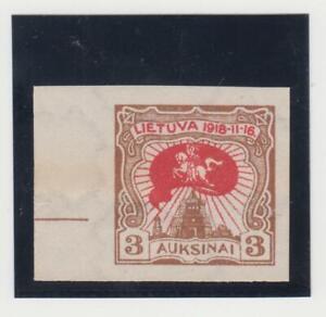 LITAUEN.1920  2 JAHRE UNABHÄNGIGKEITMI.NR.74 U.SCHÖNE RANDSTÜCK.