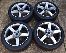 "GENUINE JAGUAR XE XF X TYPE 5 SPOKE 18"" ALLOY WHEELS PIRELLI TYRES SET x4 NEW !!"