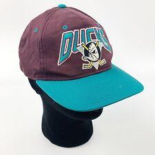 Vtg Anaheim MIGHTY DUCKS NHL Hockey Mens Starter SnapBack Hat Cap Disney
