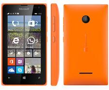 Nokia Lumia 435 Orange Smartphone 8GB Memory S/R Original Box Excellent