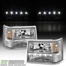 1993-1998 Jeep Grand Cherokee 6in1 LED DRL Headlights+Corner Bumper Lights 93-98