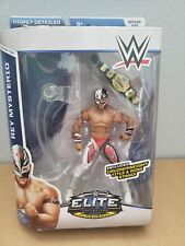 WWE Mattel Elite 32 Rey Mysterio with WCW Cruiserweight Championship Belt NIB
