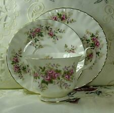 "ROYAL ALBERT TRIO "" LAVENDER ROSE ""  CUP SAUCER CAKE PLATE  1ST QUALITY 1973"