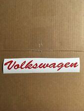 volkswagen vinyl decal sticker Word Car Window Side Of Car Back Of Car