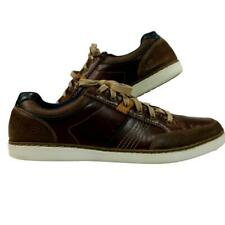 Skechers Men's 13 M Shoes Brown Leather Sneakers Lanson Rometo Training Walking