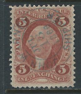 Bigjake: R27c, 5 cent Inland Exchange - John Warner, Shipper - 1st Issue Revenue