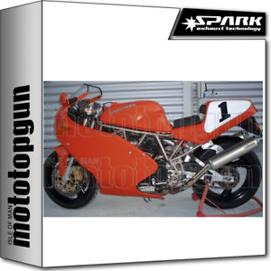 SPARK 2 EXHAUSTS LOW ROUND RACING INOX DUCATI 900 SS 1991 91 1992 92 1993 93
