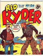 """Red Ryder No 136 1950's -Australian-""""Red Ryder Under Arrest  Cover ! """""""