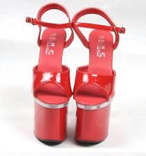 Womens Lady's Super high heels platform open toe sandals wedding Nightclub Shoes