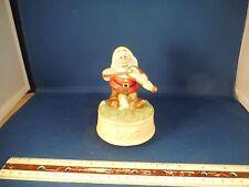 "Vintage Disney Snow White Doc Dwarf ""Love Makes World"" Music Box"