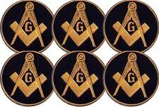 Masonic Car Auto Emblem - Six Pack (Dark Blue MAE-2-6)