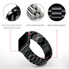 Band 38mm 40mm Metal Links Bracelet Black Stainless Steel For Apple Watch Strap
