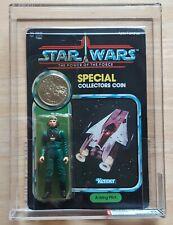 Vintage Star Wars AFA 80 A-wing Pilot UNPUNCHED 80/85/85 POTF Last 17