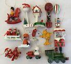 Wooden Vintage Ornaments figures Taiwan lot hot air balloons airplane car train