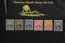 298 HAWAII OFFICIAL STAMPS LORRIN A. THURSTON 1896 SCOTT #o1-o6