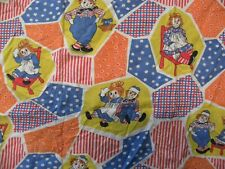 Vintage Raggedy Ann and Andy Bob Merrill Pacific Part of Sheet Baby Blanket