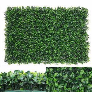 Fence Foliage Hedges Grass Mat Artificial Plant Greenery Wall X-mas Decor