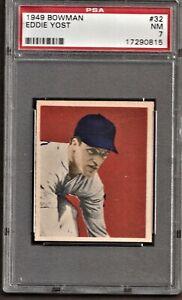 1949 Bowman Baseball # 32 Eddie Yost PSA 7