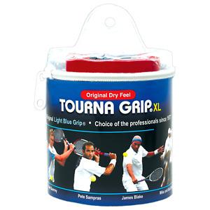 Tourna GRIP Original 30 Pack Tennis Badminton XL Overgrip - Blue - Dry Feel