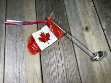 VINTAGE MUSCLE BIKE BICYCLE FLAG POST CANADA FLAG STREAMER ACCESSORY JAPAN NOS