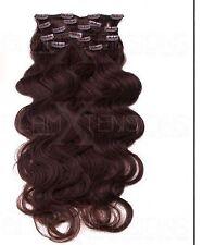 Echthaar Clip In Extensions Haarverlängerung 55-60 cm GEWELLT TOP Qualität