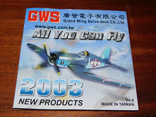 2003 product DVD GWS taiwan ALL YOU CAN FLY grand wing servo-tech TAIPEI plane