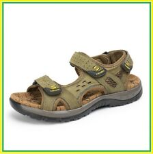 Summer Men's Sandals Casual Beach  Cross-Strap High Quality Leather Size 38-48