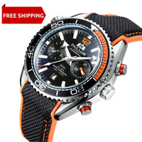 Men's SeaMaster Homage Watch Automatic Self Wind Chronograph Calendar Stainless