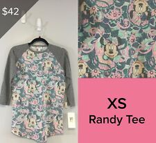 LULAROE COLLECTION FOR DISNEY RANDY SHIRT SIZE XS NWT MINNIE MOUSE 2112
