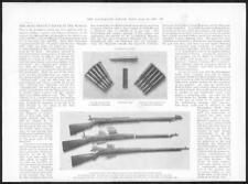 1898 Antique Print -  RIFLES Cartridges Clip Lee Metford Magazine Turnbolt (264)