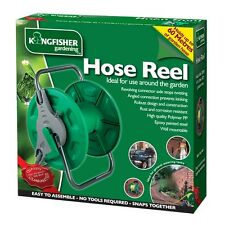 PORTABLE WALL MOUNTED HOSE PIPE REEL GARDEN WATERING FREE STANDING RUST PROOF