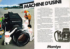 PUBLICITE ADVERTISING  1980   MAMIYA 645    appareil photo ( 2 pages)